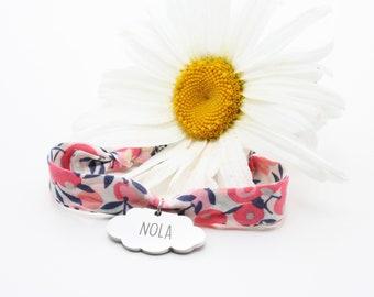 Personalized Bracelet Cloud Liberty Peas Of Senteur, Woman's Jewelry, Children's Bracelet, Women's Bracelet, Birth Gift, Mother-Daughter Bracelet