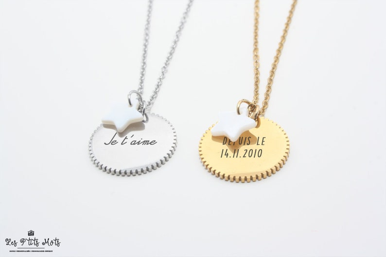 Dentelé Personalized Necklace with Engraving First Name image 0
