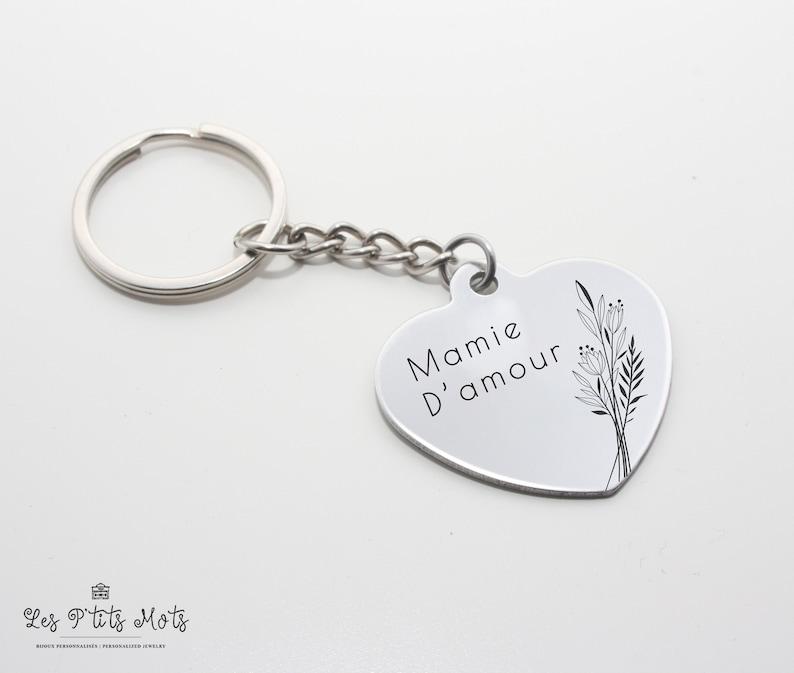 Personalized Keyholder Grandma  Personalized Gift Grandma image 0