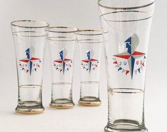 Festival of Britain Commemorative Glass   Hand Made 1951 Mid Century Icon