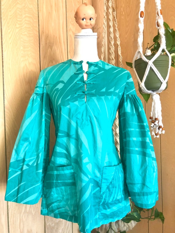 Vintage 60's Star of Siam Cotton Tunic with large