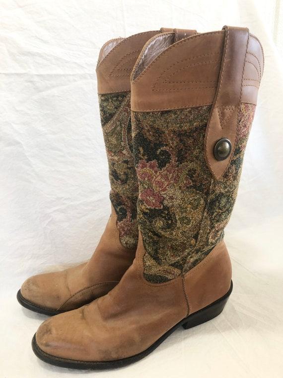 Vintage Southwestern Diego De Lucca Leather Boots