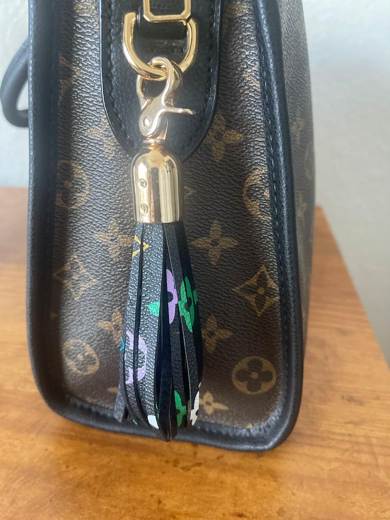 Designer inspired tassel purse charm