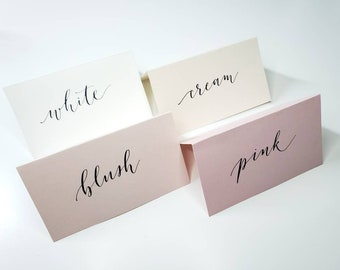 Wedding Table Cards  Name Place Cards Custom  Calligraphy Place Card  Escort Seating Name Card  Tent Place Cards  6 Styles  Pack of 10