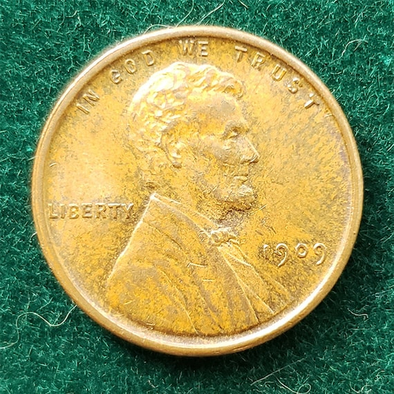 1909 VDB Wheat Cent Cent almost unc to Uncirculated