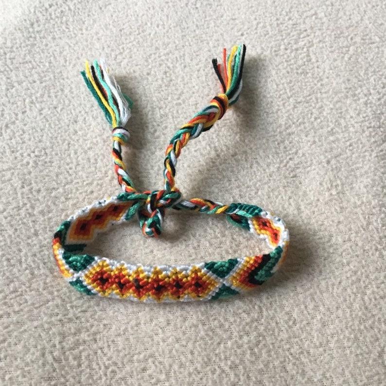 Handmade knitted bracelet