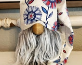 Patriotic Farmhouse floral gnome or hat