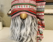 Christmas Farmhouse gnome hat slouchy hat for gnome farmhouse elf decor