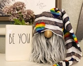 Pride Farmhouse gnome hat Pride Gnome HAT farmhouse decor tiered tray decor rainbow serape hat