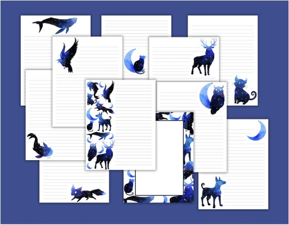 Space Animals Printable Stationary