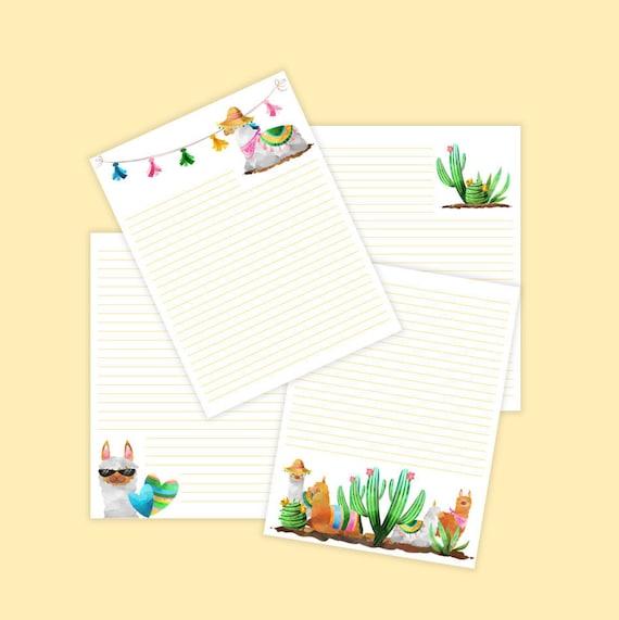 Llama Printable Stationery-Stationary Paper Pack-Llama