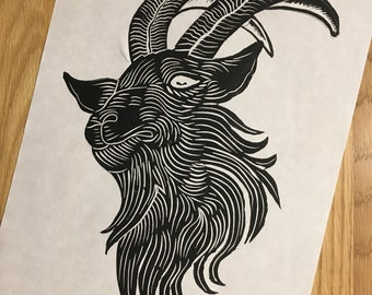 Black Baphomet Prints