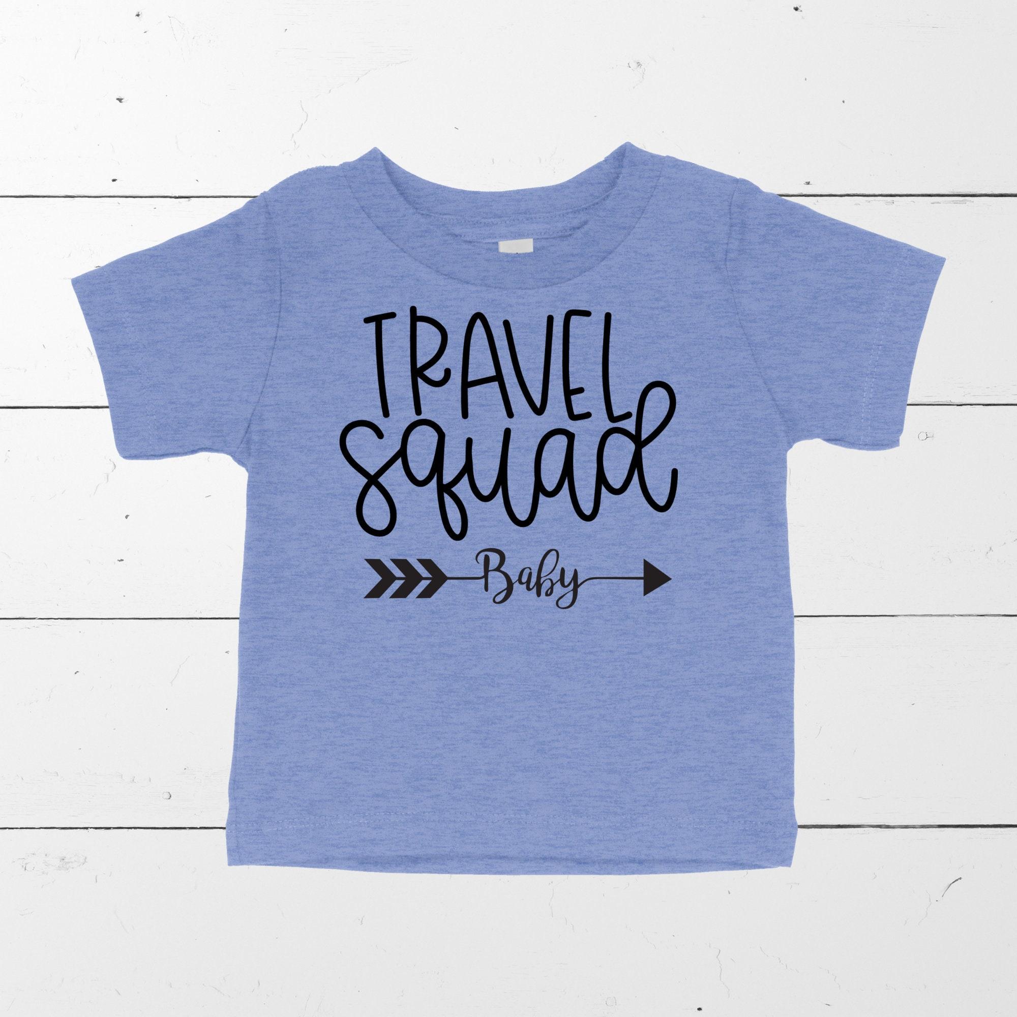 Baby T-shirt Baby Travel Shirt Baby Travel Squad Unisex Tshirt