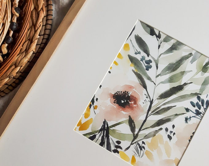 Featured listing image: Abstract floral poster, reproduction original work, botanical illustration, print for interior decoration, watercolor, gouache
