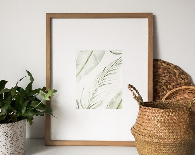 Featured listing image: Poster foliage, reproduction original work, botanical illustration, print for interior decoration, watercolor, gouache