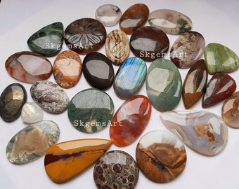 Wholesale Lot of Mixed Natural Gemstone  Cabochon By Weight With Different Shapes And Sizes Used For Jewelry Making
