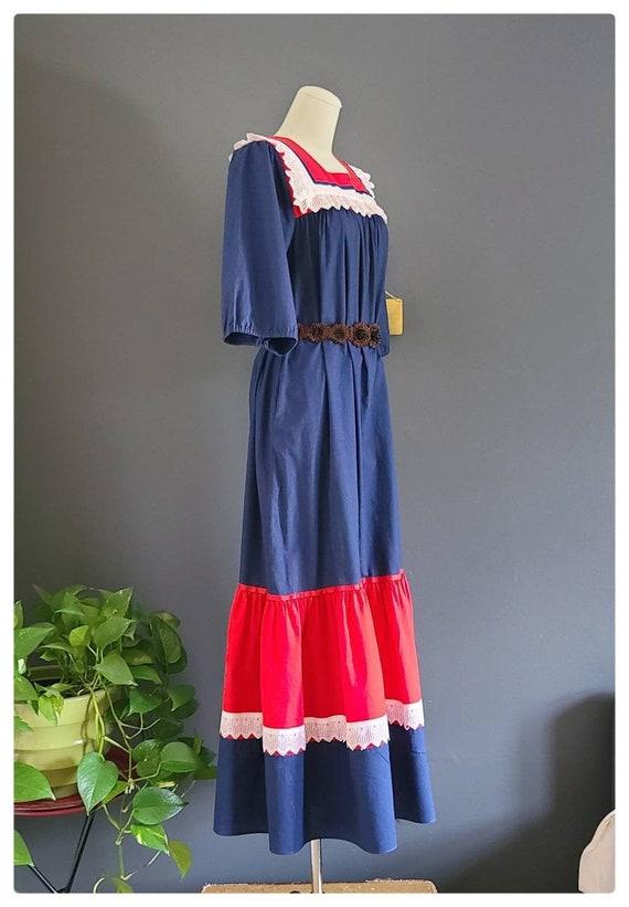 60's Hilda Hawaii Maxi Prairie Mumu Dress