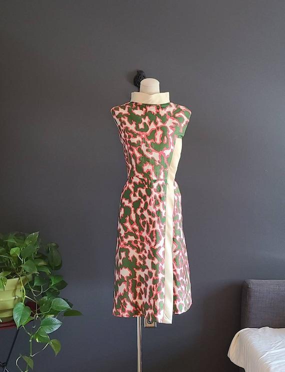 Vintage Silk Cotton Abstract Dress by Pattullo-Jo