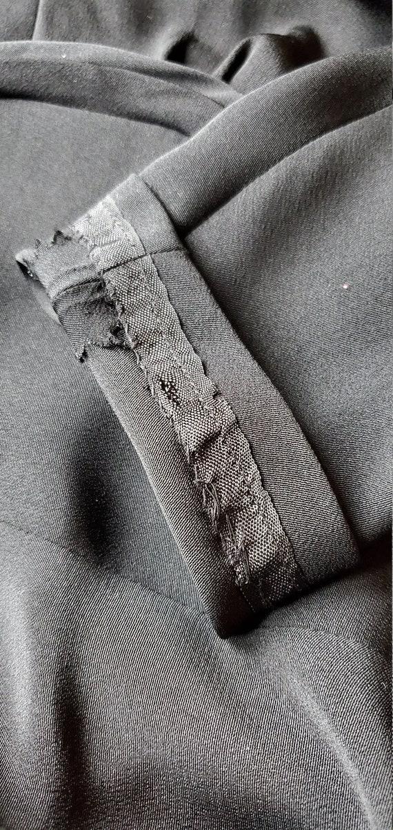 40's Rayon Little Black Dress - image 10