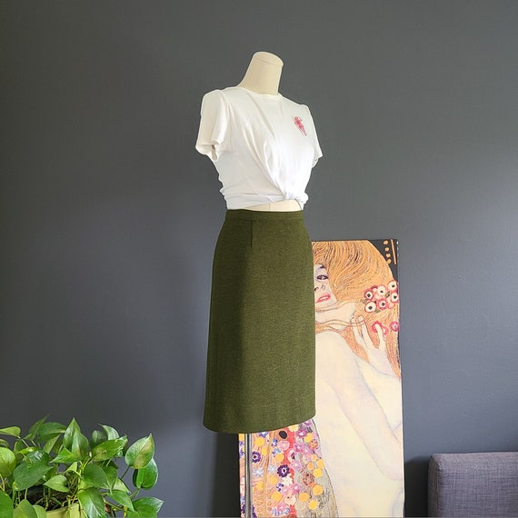 40's Italian Wool Knit Skirt by Lord & Taylor