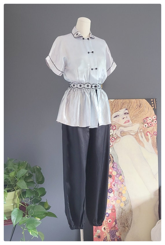 Vintage Satin Loungewear Set