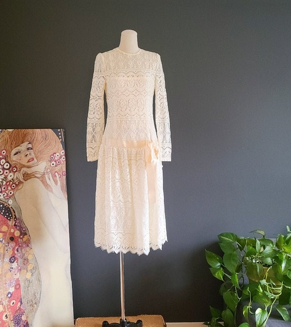 80's Lace Party Dress by Kappi for Talbot's