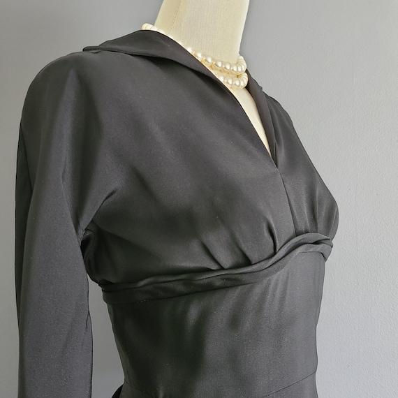 40's Rayon Little Black Dress - image 2