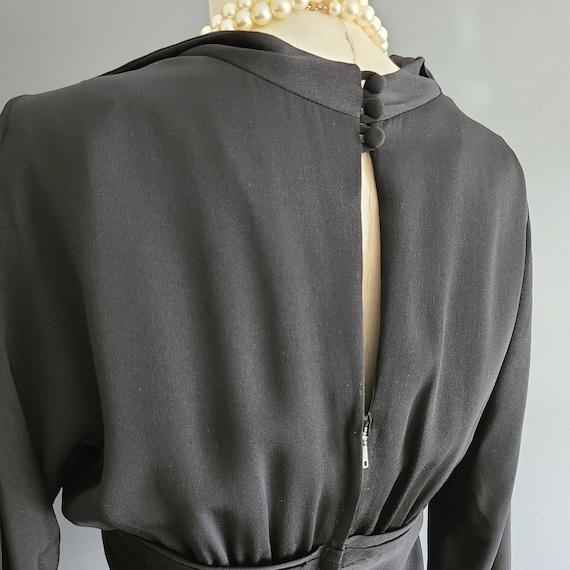 40's Rayon Little Black Dress - image 5