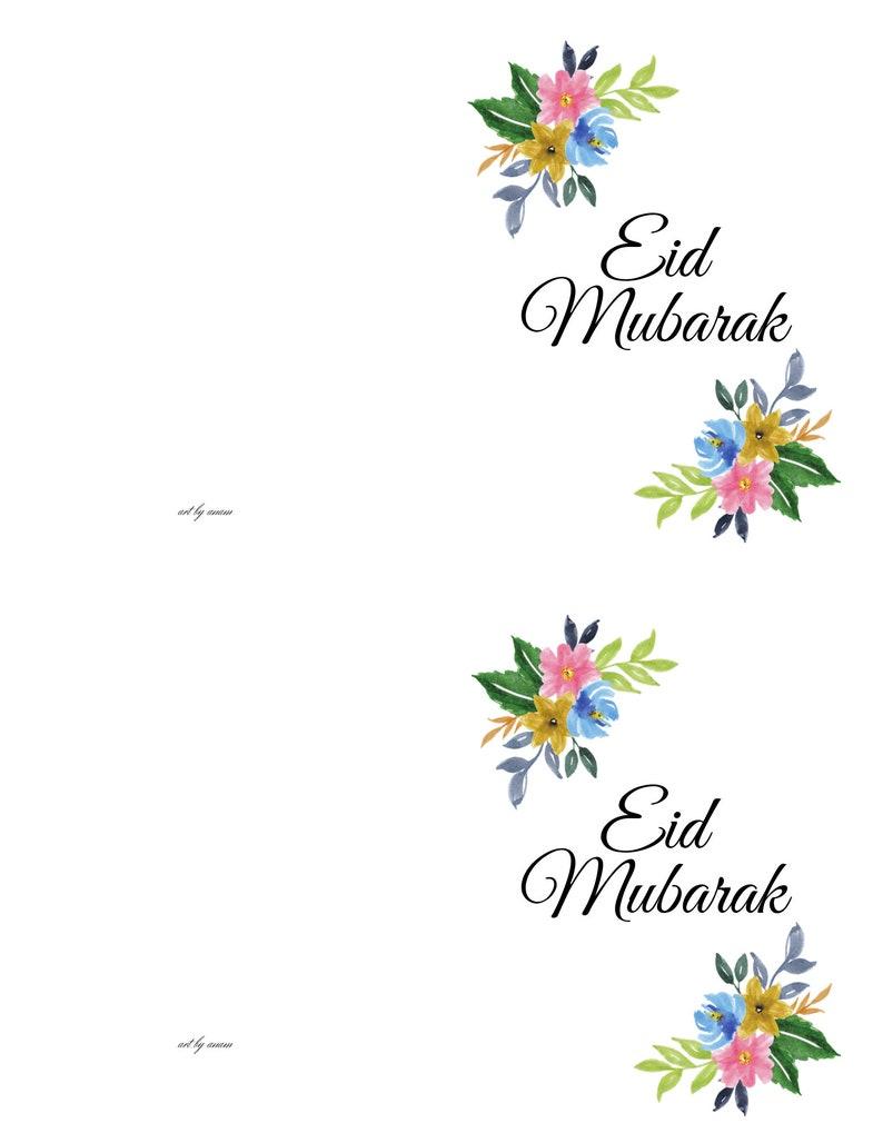 eid mubarak card set of 10 cards eid islamic printable a2
