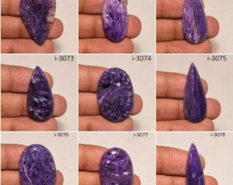 Charoite Marvelous Purple Charoite Cabochon Loose Gemstone Smooth Purple Charoite Cabochon For Pendant Making Gemstone {45x23}mm # 3135