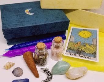 Travel Altar Kit | Mini Mystery Witch Box | Spiritual Supplies for Spells Rituals Meditation Craft