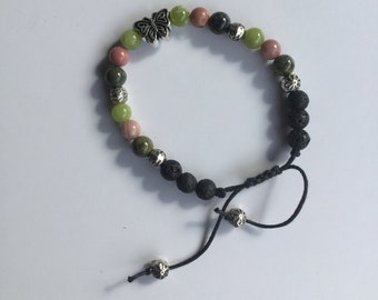 8mm Natural Green Jade bracelet Men yoga bracelet Healing Bead Protection bracelet protective stone for the Mind Blood Stone B527