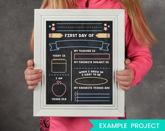First Day of School SVG - Last Day of School SVG - 1st Day of School SVG - Chalkboard Svg - Back to School Svg Eps Dxf Png