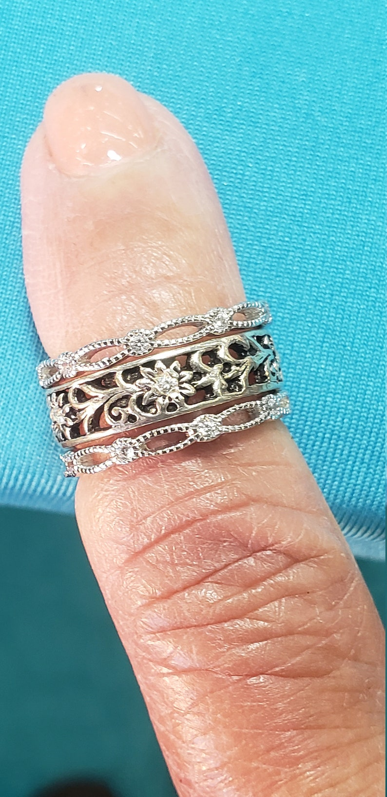 toe rings custom fitted toe rings sterling silver CZ fitted toe ring stack able stacked toe rings  toe jewelry body jewelry jewelry for toes