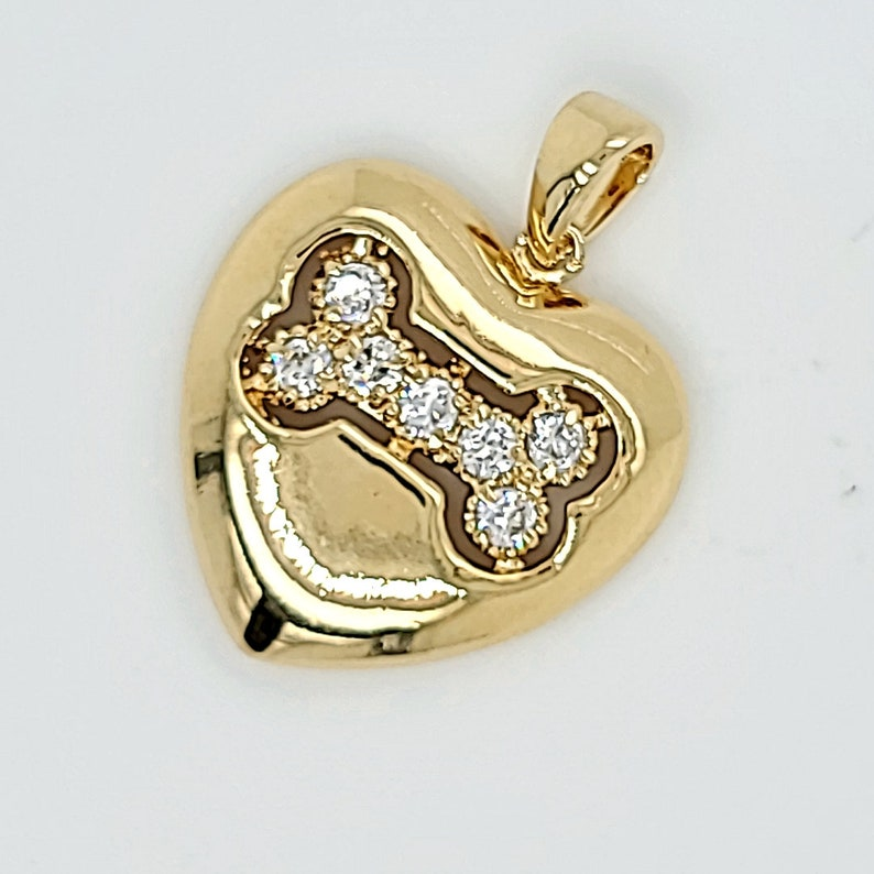 gold charms dog bone charm paw charms Charms gold dog charms pet charm