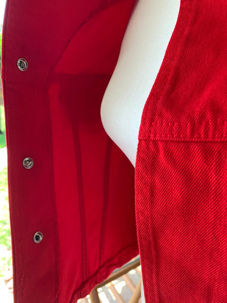 1990s Red Western Style Vest