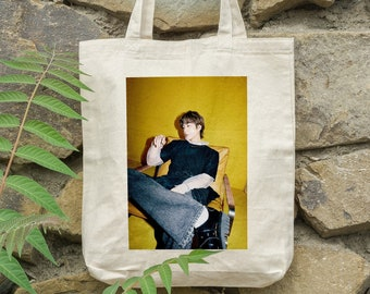 BTS Jin Tote Bag Butter - Write your name - %100 Cotton