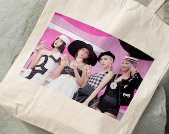 BLACKPINK OT4 Canvas Bag - Write your name - %100 Cotton