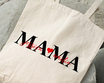 Cotton Shopper Personalized | Mom with the children's names