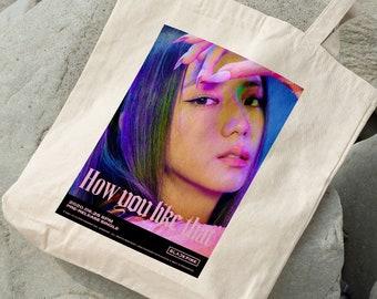 Jisoo BLACKPINK Canvas Bag - Write your name - %100 Cotton