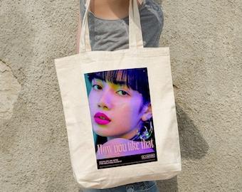 Lisa BLACKPINK Canvas Bag - Write your name - %100 Cotton