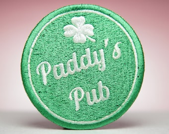 Paddy's Pub Embroidery Patch - It's Always Sunny - Sew On, Iron On