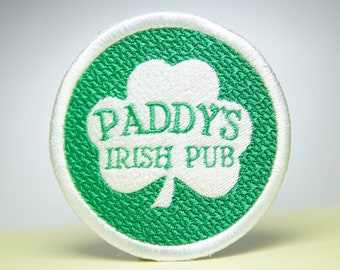 Paddy's Irish Pub Embroidery Patch - It's Always Sunny - Iron On, Sew On