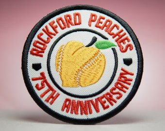 75TH ANNIVERSARY - A League of Their Own Rockford Embroidery Patches - Iron On, Sew On