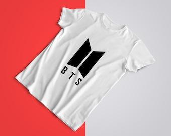 BTS T-Shirt Oversize - Write your name, Customizable - BTS Group Shirt  BTS Tee Love, OT7 Army