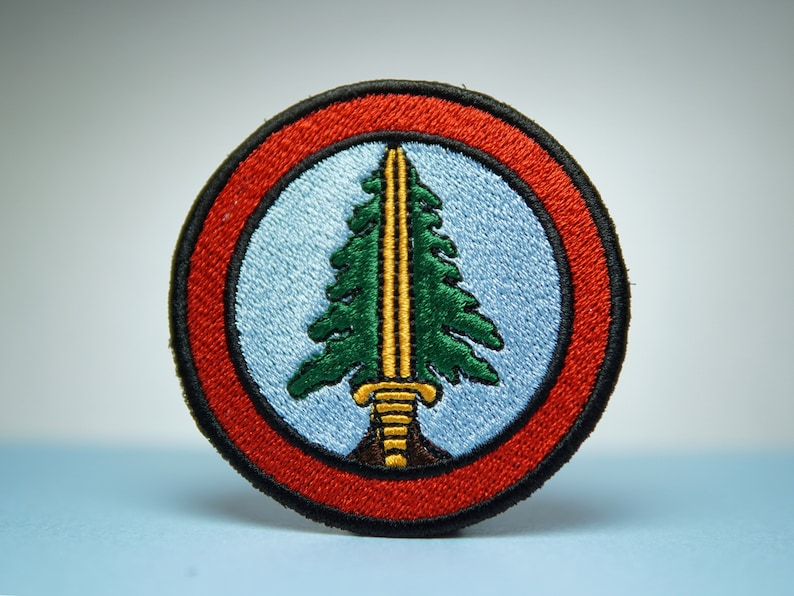 Bookhouse Boys Embroidery Patch  Twin Peaks  Iron On Sew On image 0