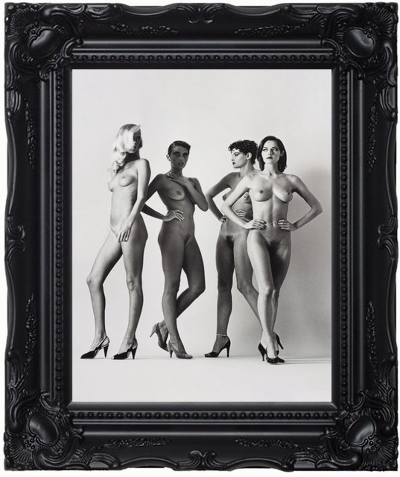 1960s Vintage FEMALE FASHION Nude Woman 16x20 Photo
