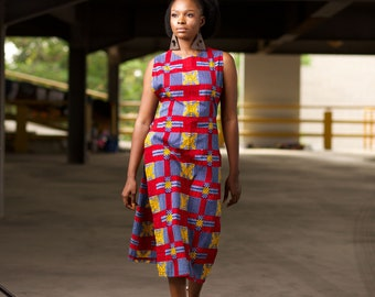 Ankara Tunic   African Long Top   African Print Long Tunic   Africa Top   Plus Size Available - NAADE