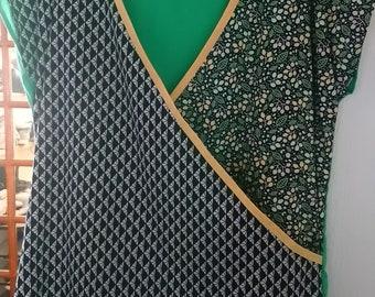 top green cotton heart cover