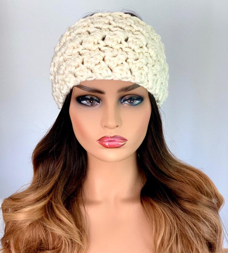 Crochet Ear Warmer~ Ivory